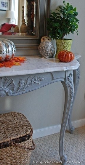 Marble top console tables 8