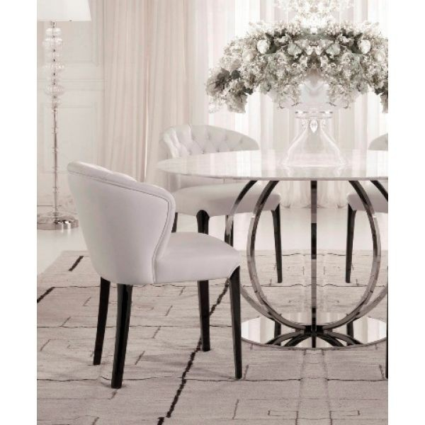 Marble top dining table round 1 & Round Marble Dining Table Set - Foter