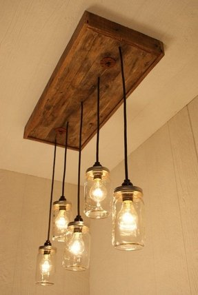 Mason Jar Chandelier Lighting 1