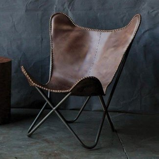 Metal and leather chairs