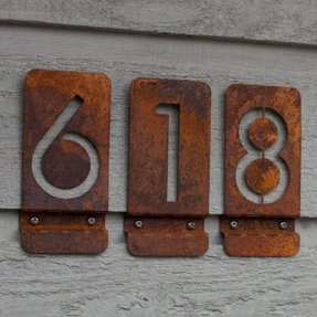 Modern door number signs