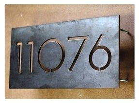 Metal House Number Signs Foter - Cheap metal house numbers