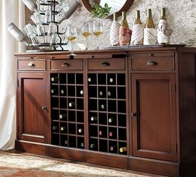 Modular bar buffet with 2 wine bases 2 cabinets 3
