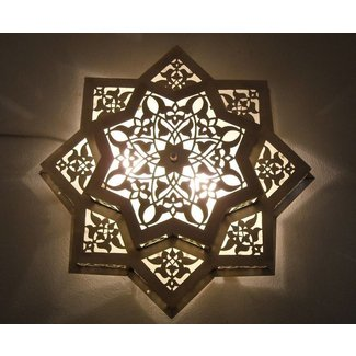 Moroccan flush mount ceiling light fixture