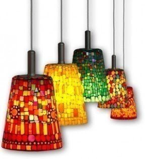 Mosaic light fixtures 4