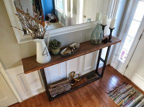 Narrow entryway table