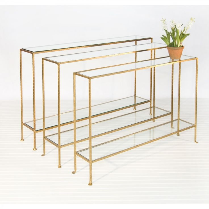 Narrow Glass Console Table 4