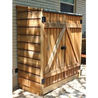 Outdoor storage box wood