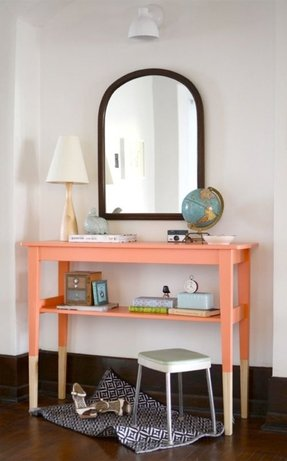 Painted console tables