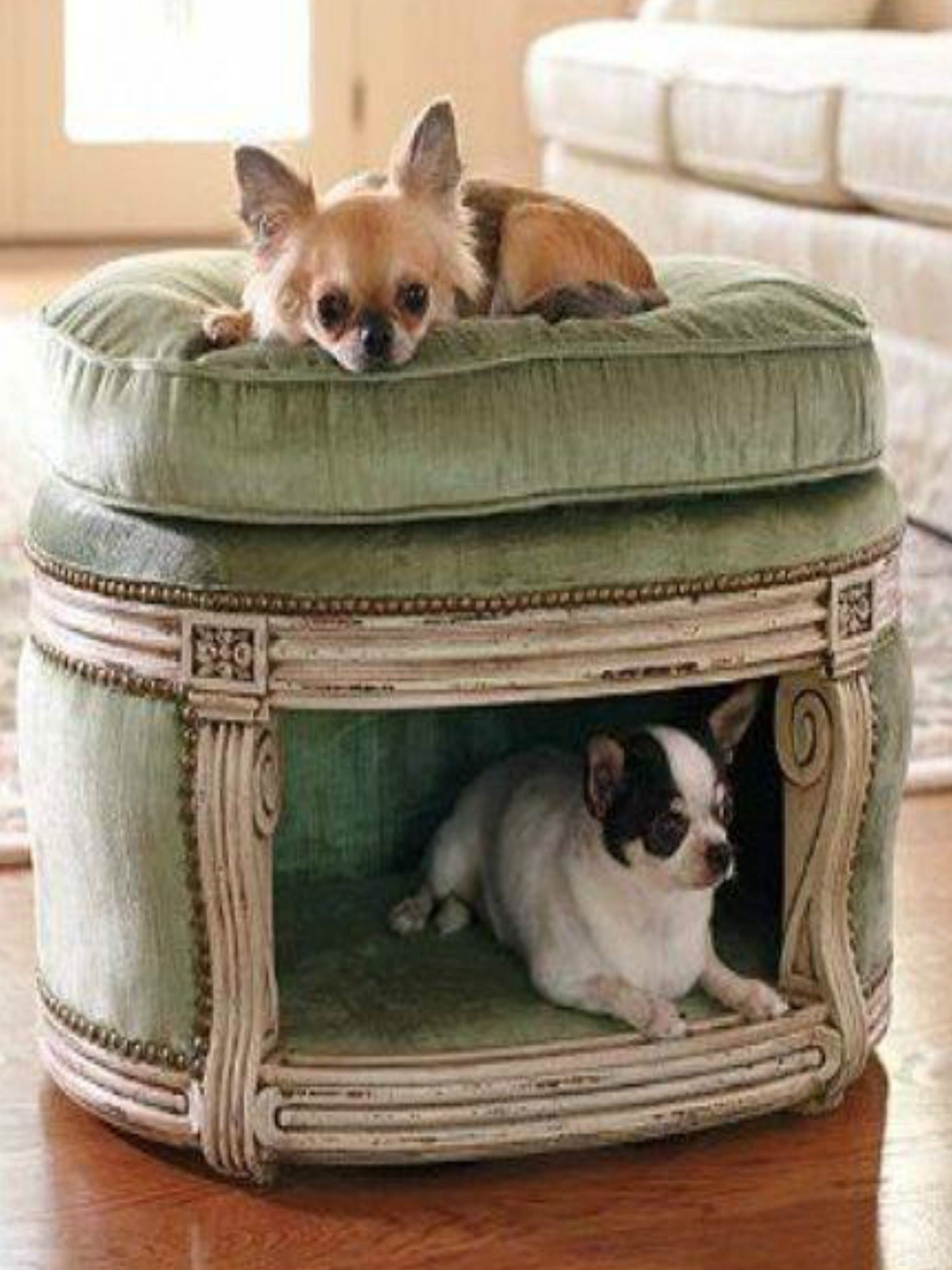 Pet bed ottoman
