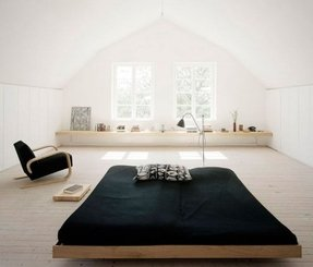 Platform bed with attached side tables