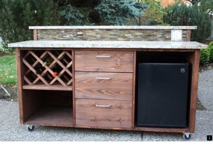Captivating Portable Patio Bar