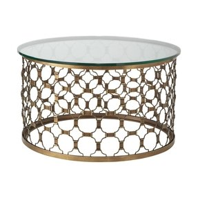 Round coffee tables with glass top 1