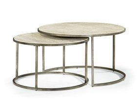 Round Gl Coffee Table Metal Base 1