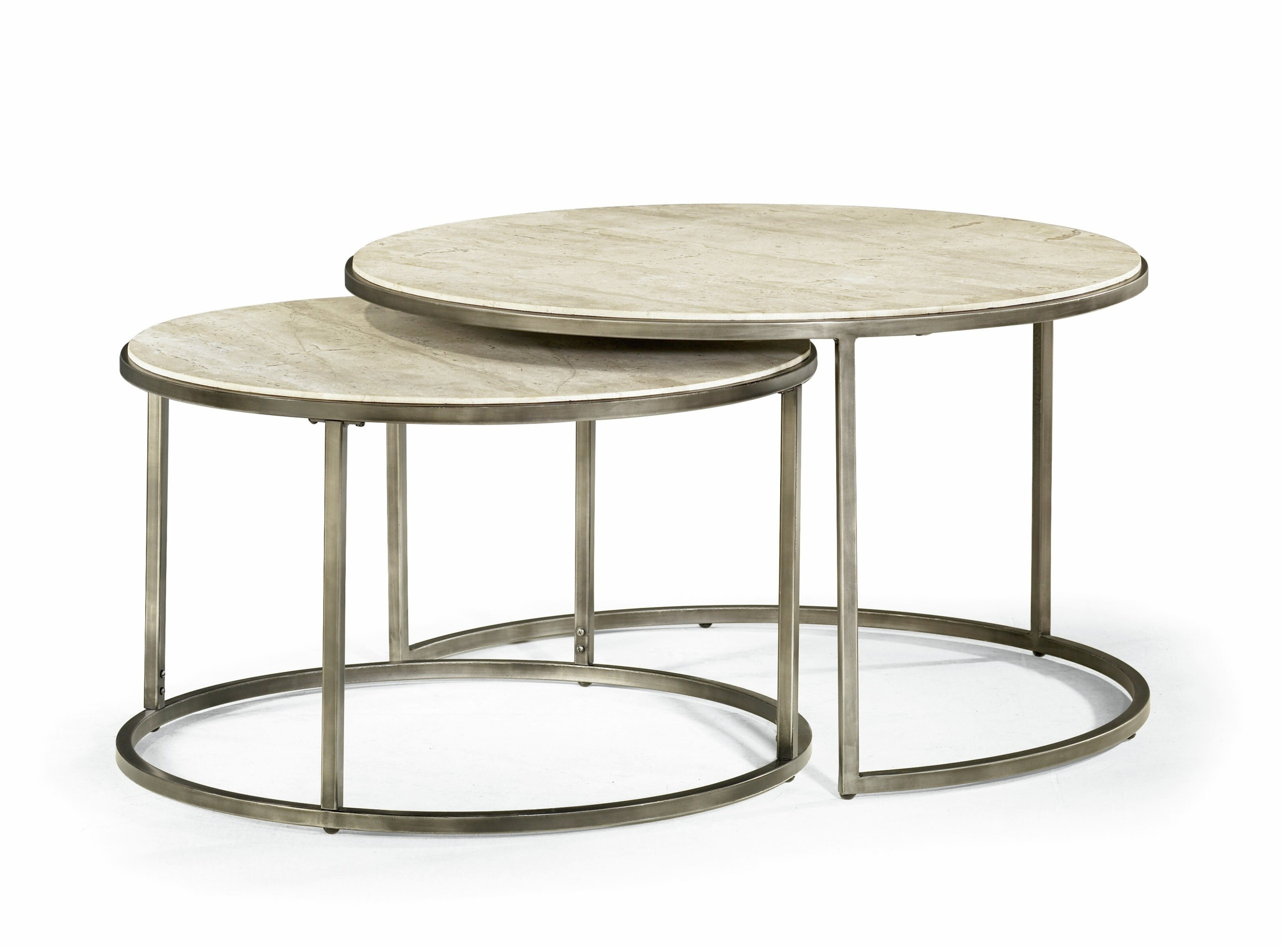 Round Glass Coffee Table Metal Base 1