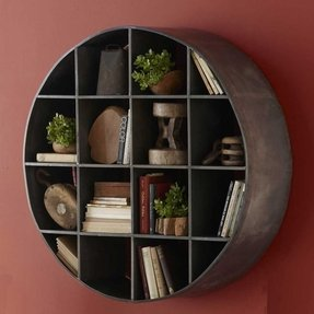 Round metal wall art