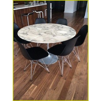 Round table with marble top