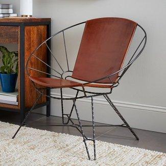 Sculpted Metal Bowl Chair