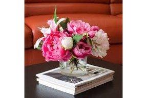 Silk peonies arrangement foter silk peonies arrangement with casablanca mightylinksfo