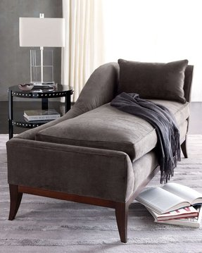 Small leather chaise lounge