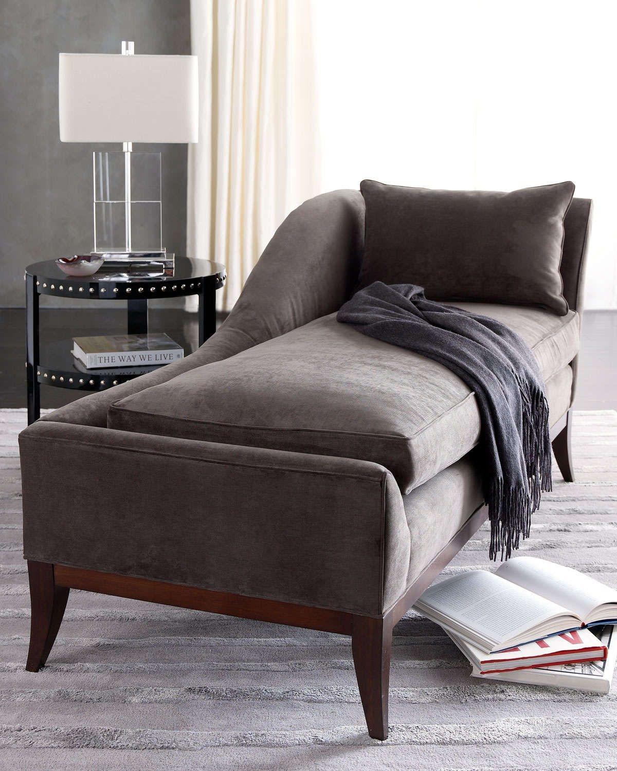 Delicieux Small Leather Chaise Lounge
