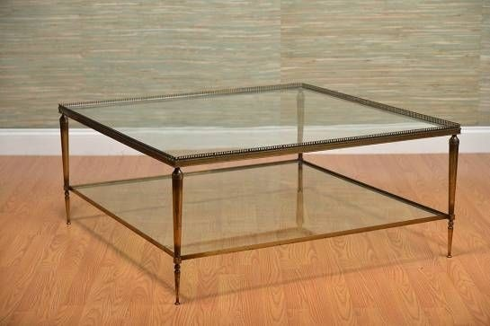 Attrayant Square Coffee Table With Glass Top 1