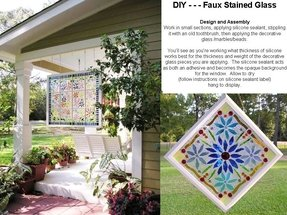 Stained glass patterns for bathroom windows