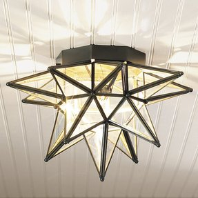 Star ceiling light fixture foter for Nursery ceiling light fixture