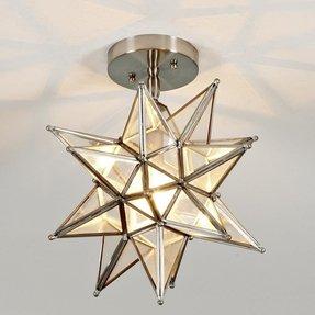 Star ceiling light fixture foter star pendant light fixture glass aloadofball Image collections