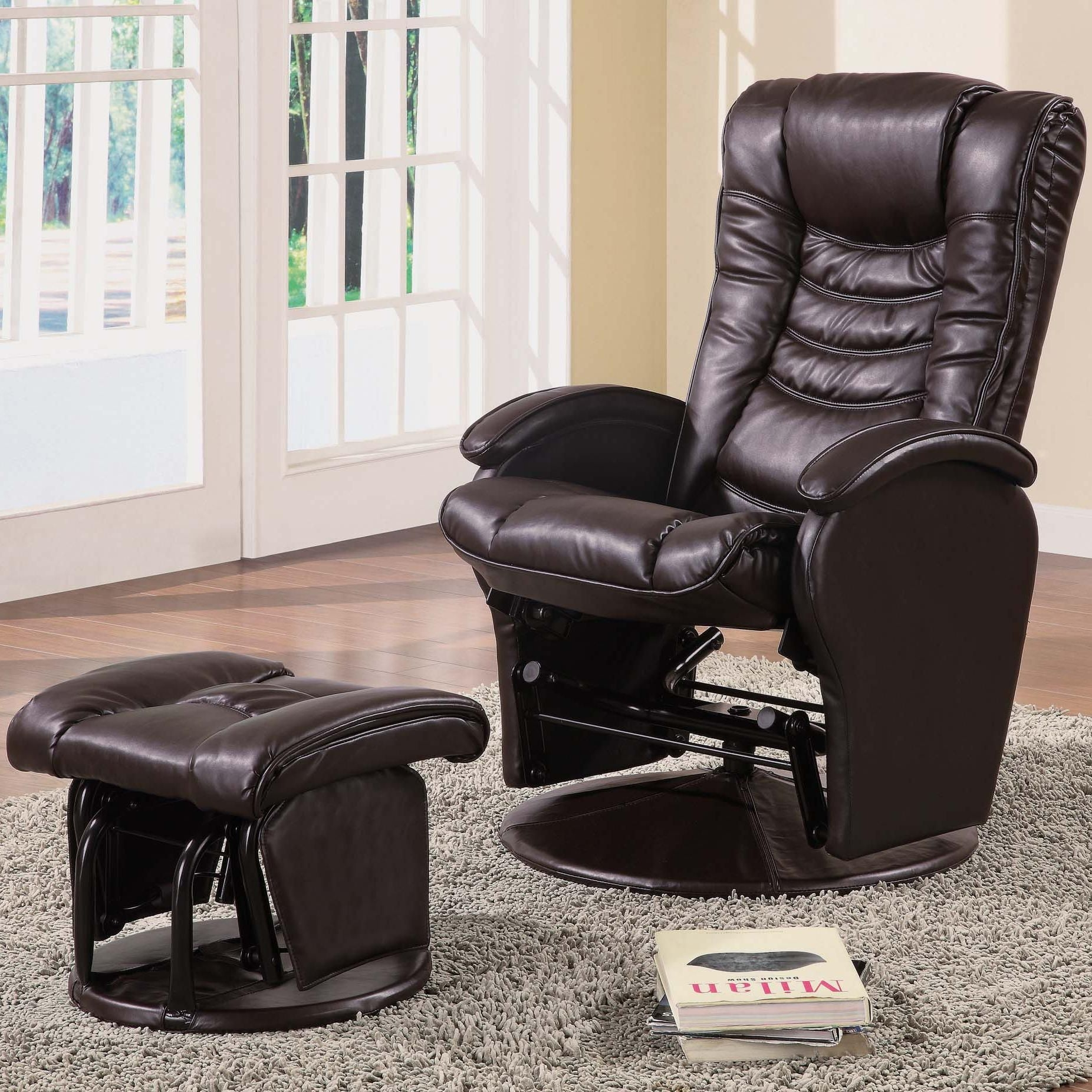 Swivel Glider Chair With Ottoman