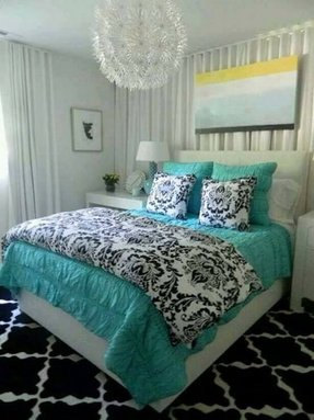 Tiffany blue comforter