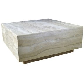 Travertine marble cocktail table 1