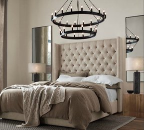 Upholstered headboards king size bed