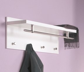 Wall coat rack with shelf