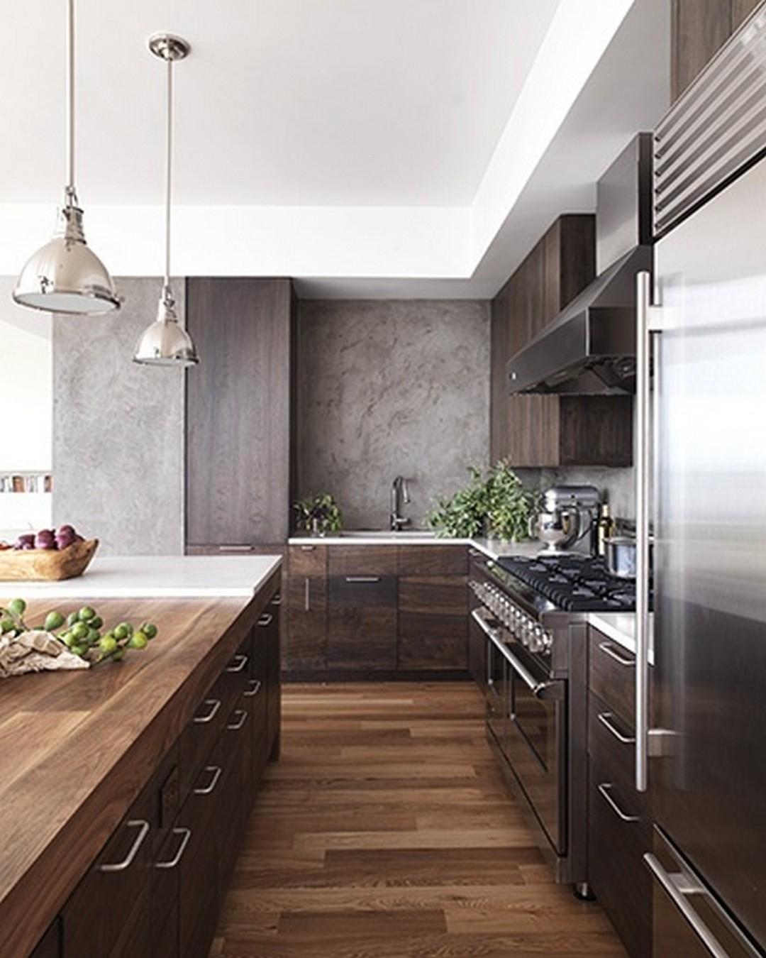 Superieur White And Dark Wood Kitchen