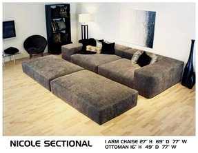 Wide seat sofa