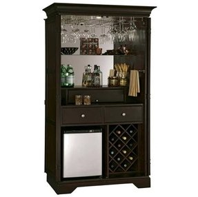 Wine bar furniture with refrigerator foter for Built in drinks cabinet
