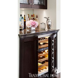 Wine bar furniture with refrigerator