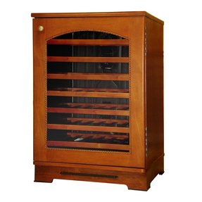 Wood wine refrigerator