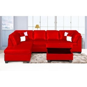 Small Leather Sofa With Chaise - Foter
