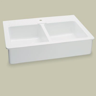 Apron Front Sink With Drainboard