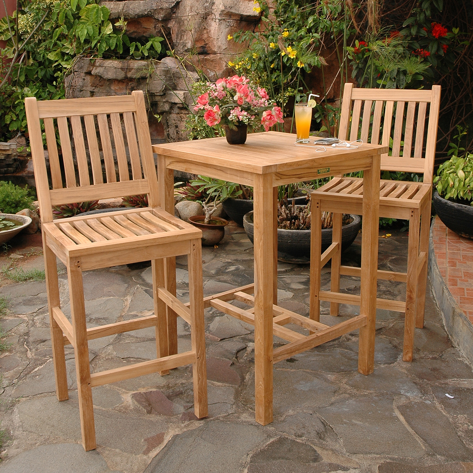 Avalon 3 Piece Bar Height Dining Set By Anderson Collections
