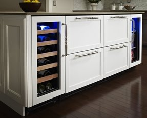 Bar cabinet with wine refrigerator 5
