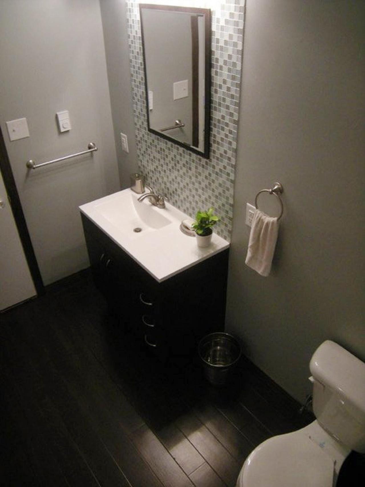 Bathrooms With Dark Vanities
