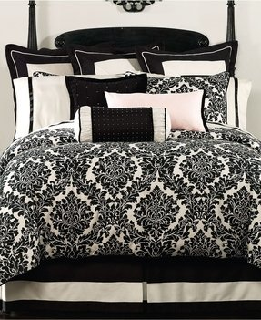 Black And White Damask Duvet Cover