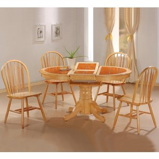 Round Dining Table With Butterfly Leaf - Foter