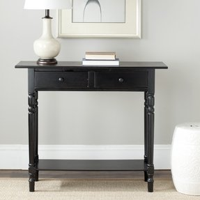 Cape cod black 2 drawer console table