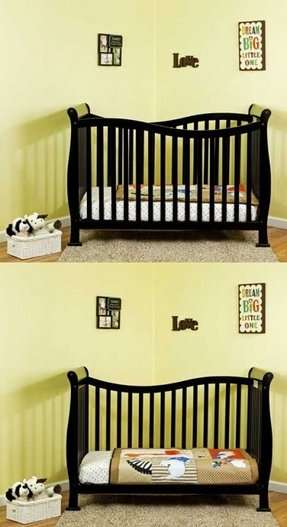 Convertible toddler to twin bed