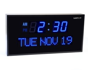 Digital wall clock with date 1