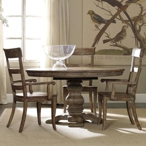 Round Dining Table With Leaf Extension - Foter